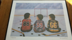 CADRE * THE GREAT ONES * LINDROS-GRETZKY-LEMIEUX..16X20