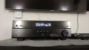 YAMAHA RX-V375 5.1 RECEIVER AND PRECISION ACCUSTICS SURROUND 5