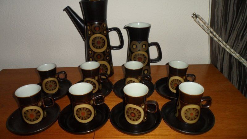 Denby Arabesque Tea Set for Six Coffee Set for Eight with XL Coffee Pot and XL Jug