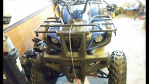 BRAND NEW ATV WITH PLOW/3000LB WINCH+EXTRAS.TRADE FOR CAR/$2700