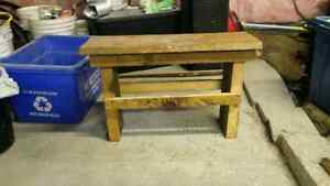 Referbished wood county style bench