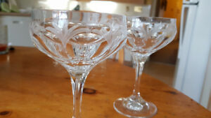 2 vintage Peill champagne/tall sorbet glasses. Perfect.
