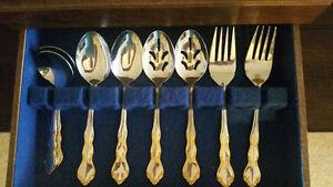 Elegant Birks 88 Piece Silverware +Serving Set