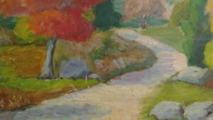 """Jean Chandler """"Autumn Huntsville"""" Oil on Board North Shore Greater Vancouver Area image 4"""