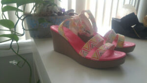 Crocs brand wedges womans size 9