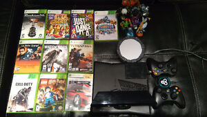 XBOX 360 4G+250G with Kinect & games