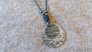 Silpada Black Leather 2 Disc Necklace