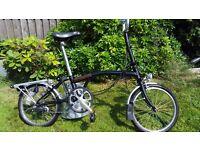 Brompton folding bike black bicycle