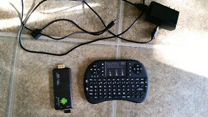 Android stick and wireless keyboard/mouse