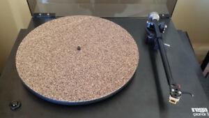 3mm Cork & Rubber Turntable Record Mat Vinyl LP Made in Germany