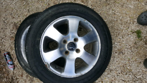 205 60 15 with 4 bolt ford rims