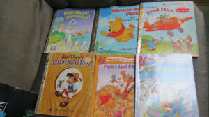 4 A Little Golden books and 2 Winnie the Pooh books