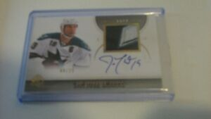 Joe Thornton auto SP authentic 8 of 25 patch auto