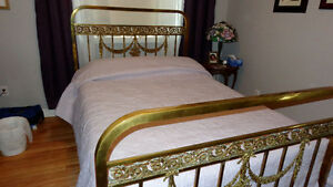 Victorian ornate Antique Brass Bed frame