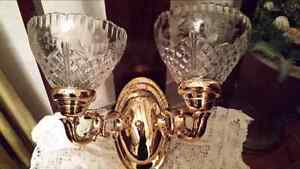 """2 Beautiful crystal shade wall sconce's shade size is 4 1/2"""" hig Kitchener / Waterloo Kitchener Area image 1"""