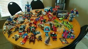 large lot of loose G1 Transformers and Gobots.