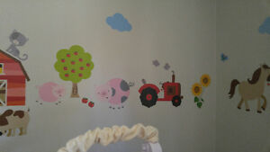 Farm Crib Bedding And Wall Decals Belleville Belleville Area image 4