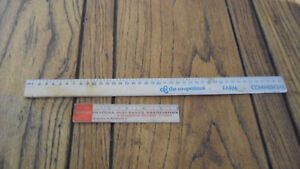 Antique advertising rulers