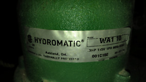 Hydromatic sump pump