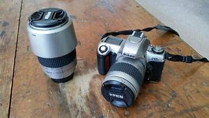 Nikon F65 Film Camera with two lenses