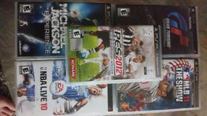 5 jeux psp