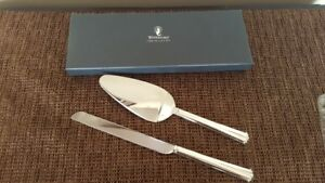 Waterford Lismore Bead 2-Piece Cake Knife and Server Set