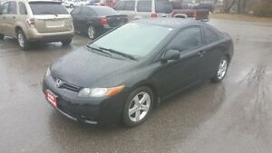2007 Honda Civic COUPE *** BLACK on BLACK *** CERT $4995