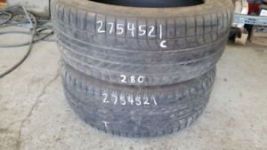 Pair of 2 Goodyear Eagle F1 275/45R21 tires (60% tread life)