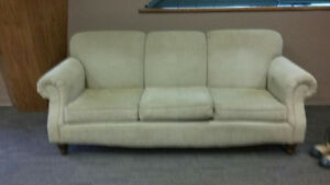 beige couch in good condition