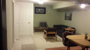 A 1 Bedroom Basement apartment on the mountain. Prime Location