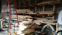 Lumber mixed pine, maple, oak and other