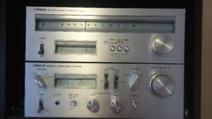 HITACHI STEREO AMPLIFIER HA-330 AND AM FM STEREO TUNER FT-340