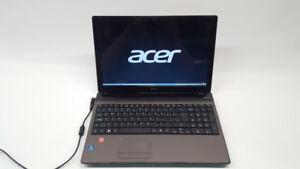 Acer Aspire 5560 AMD A8 Quad Core HHD SSD 120GO  win 7