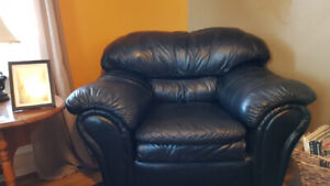 For Sale Match Leather couch and Chair