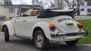 1979 volkswagen super beetle convertable project
