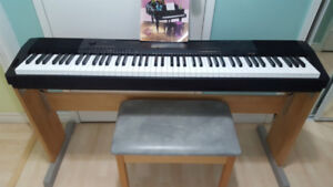 Casio piano CDP230 with Wooden Stand & Bench (88 keys in box)