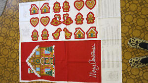 New, Gingerbread House Wall Hanging with Ornaments Panel