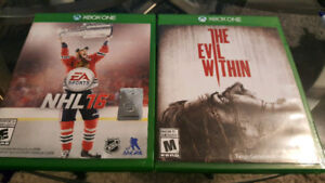 Xbox one games NHL 16, THE EVIL WITHIN