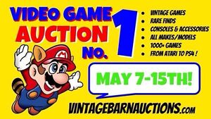 Vintage Barn Auctions Online Video Game Auction