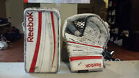 REEBOK PREMIER SERIES P4 PRO RETURN GOALIE GLOVES! CANADIAN MADE