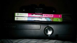 Xbox360 with controllers and games