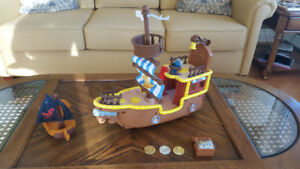 Fisher-Price Disney Bucky Pirate Ship and Captain Hook Ship