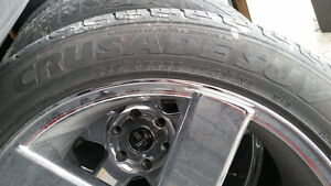 22 inch Dub Baller rims and rubber London Ontario image 4