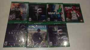 Brand new factory sealed Xbox one games