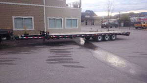36ft deckover 21000lb tri axle with ramps READY TO WORK