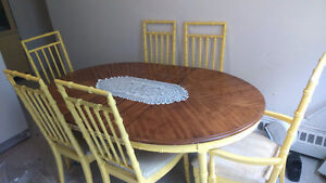 MOVING SALE - WOODEN EXTENDABLE DINNING TABLE & LOT MORE