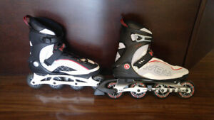 Brand New Men's Moto M84 K2 Roller Blades  and Pad Set