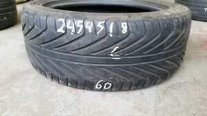 Single Michelin Pilot Sport 245/45R18 tire (60% tread life)