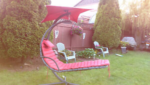 Hanging outdoor lounger