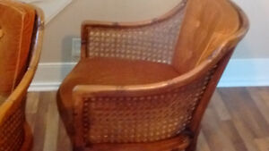 CHINESE CHIPPENDALE RATTAN BAMBOO AND WICKER ARMCH.